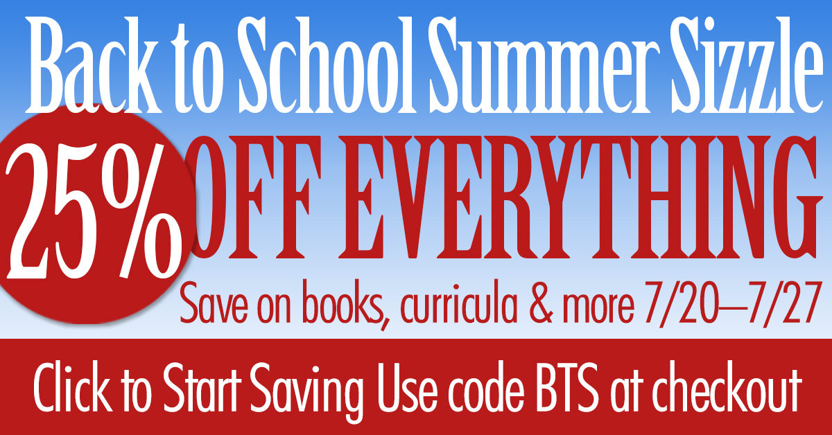 Back To School Summer Sizzle Sale: Hurry Sale Ends Midnight on Saturday, July 27