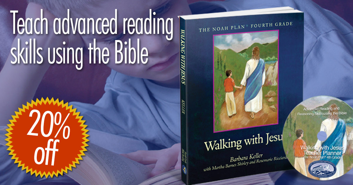 Walking with Jesus: a reading guide for the middle grades that uses the Bible as the reader.