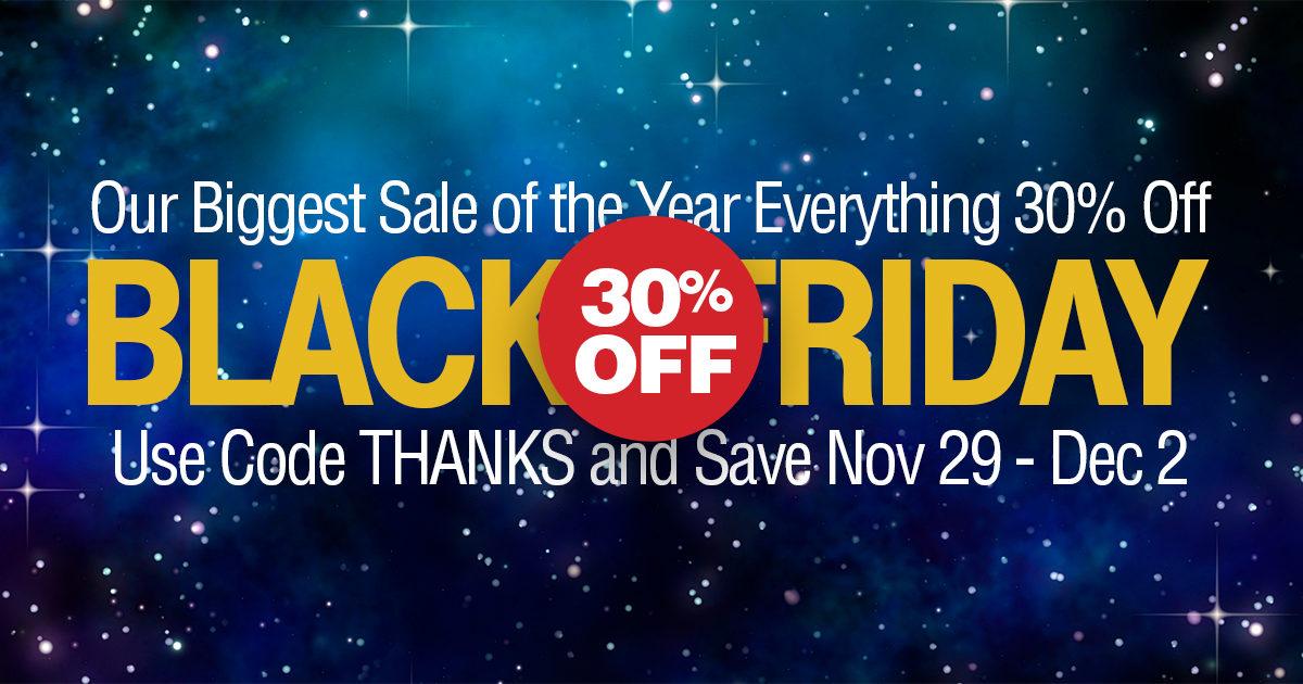 Black Friday 30% Off Sale
