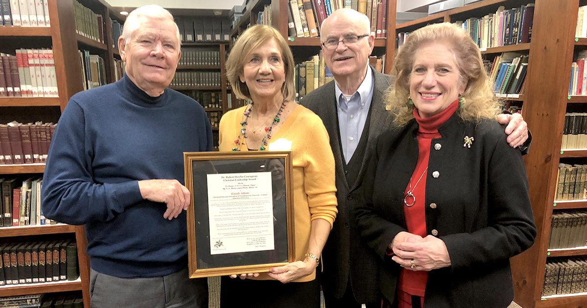 Carole Adams Recipient of the 2019 Dr. Robert Dreyfus Courageous Christian Leadership Award