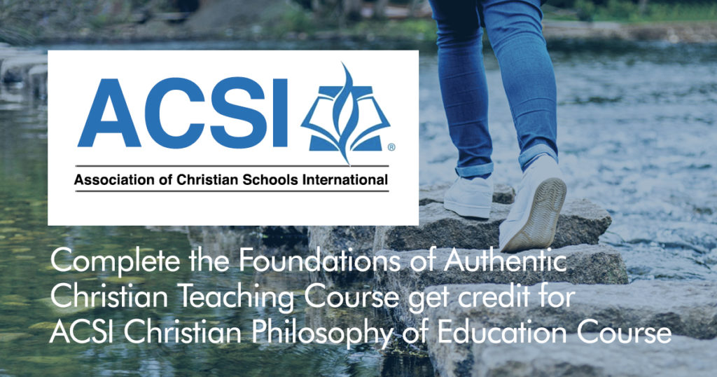 Good news for ACSI Teacher Certification