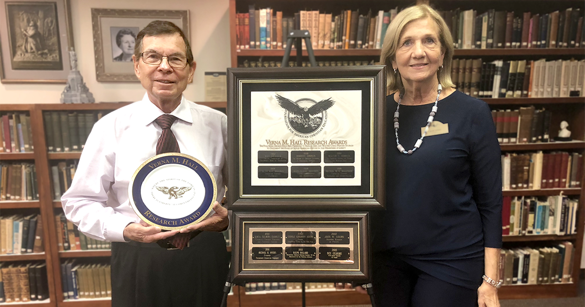 Dan Smithwick receives The Verna Marie Hall Research Award